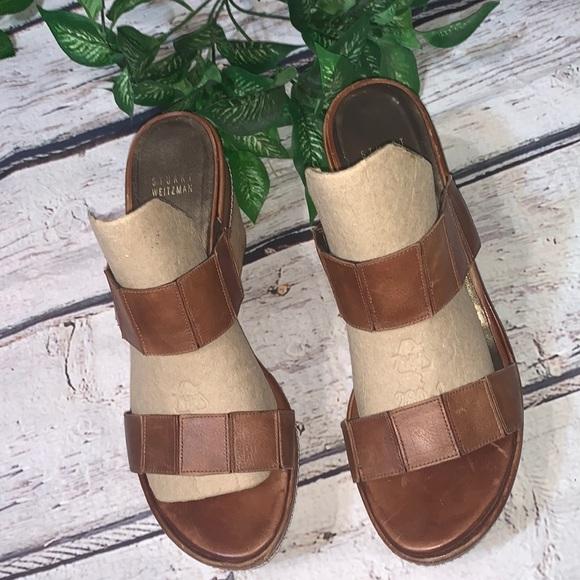 Stuart Weitzman Wedge Sandals (CL0001)